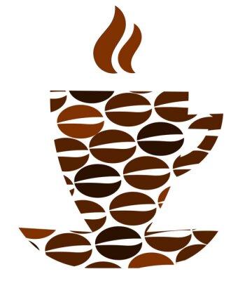 Naklejka Abstract coffee