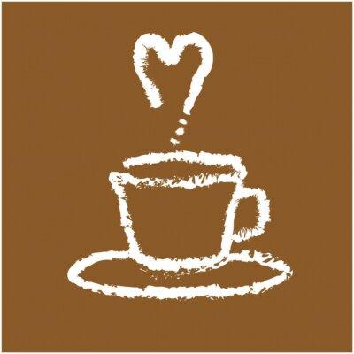 Naklejka Abstract Cup Of Coffee