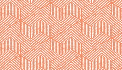 Naklejka Abstract geometric pattern with stripes, lines. Seamless vector background. White and pink ornament. Simple lattice graphic design