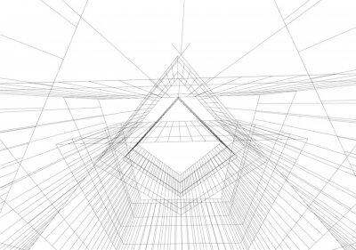Naklejka abstract geometric shape background vector illustration