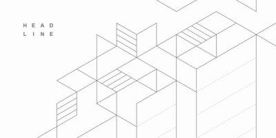 Naklejka Abstract geometric technological background. Vector creative design.
