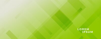 Naklejka abstract green wide baner with lines effect