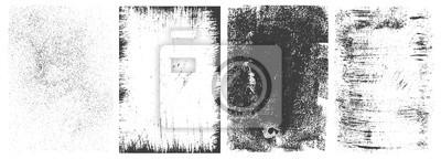 Naklejka Abstract grunge rectangular frames collection