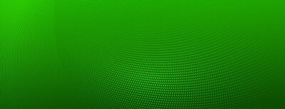Naklejka Abstract halftone background of small dots and wavy lines in green colors