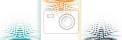 Naklejka abstract halftone white background set in three colors