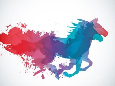 Naklejka Abstract horse