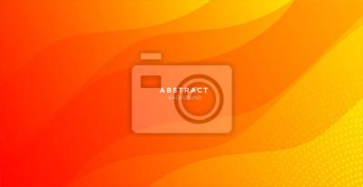 Naklejka abstract minimal background with orange color