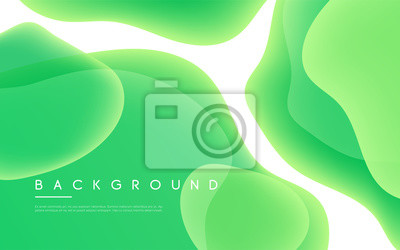 Naklejka Abstract minimalist vector background with liquid bubble shapes