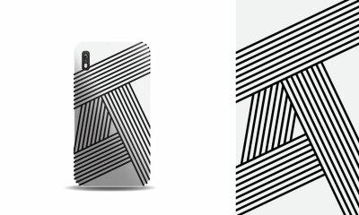 Naklejka abstract modern phone case vector design template