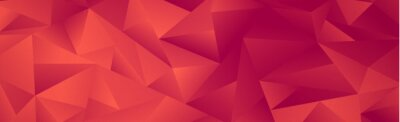 Naklejka Abstract red gradient triangles of different sizes - Vector
