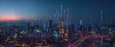 Naklejka abstract Smart city