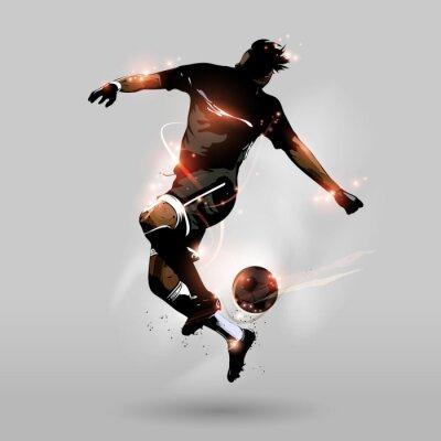 Naklejka abstract soccer jumping touch ball