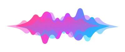 Naklejka Abstract sound wave. Modern digital equalizer. Radio wave. Volume level symbols. Music frequency. Sound vibration spectrum for music app. Vector illustration.