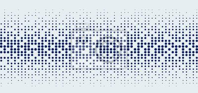 Naklejka Abstract technology futuristic style big data blue geometric circle pattern on white background and texture.