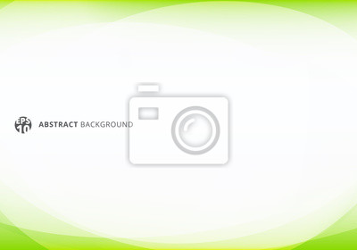 Naklejka Abstract template elegant header and footers green lime curve light template on white background with copy space.