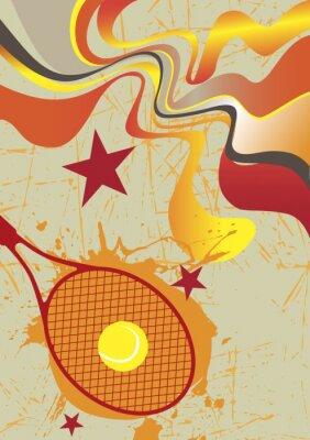 Naklejka Abstract tennis poster