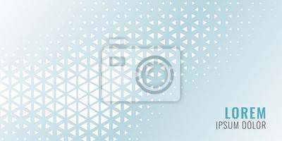 Naklejka abstract triangle pattern banner design