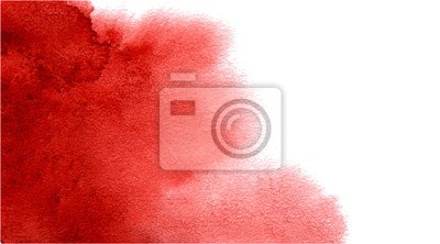 Naklejka Abstract watercolor red background for your design.