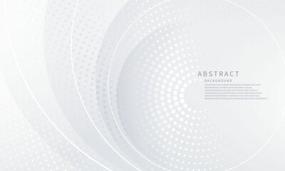 Naklejka Abstract white background poster beauty with dynamic. technology network Vector illustration.