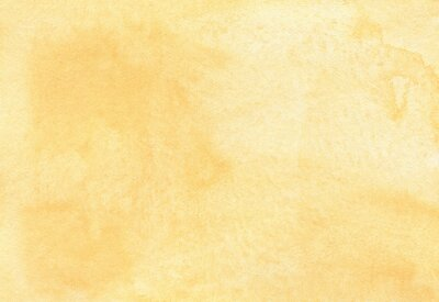 Naklejka Abstract yellow watercolor gradient background texture. Peach color backdrop.