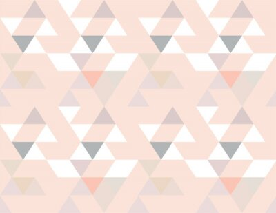 Naklejka Abstrakcjonistycznego bezszwowego geometrycznego tła wektorowej tapetowej kolorowej powtórki scandinavian projekt
