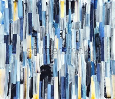 Naklejka Abstrakcjonistycznej sztuki tło z multicolor lampasami i cyraneczkami. Tekstury atramentu na papierze