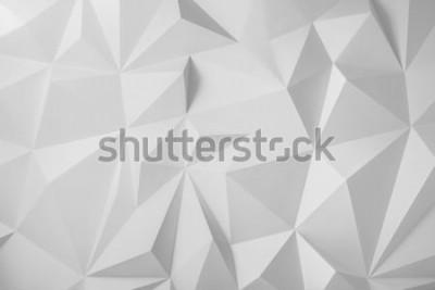 Naklejka Abstrakcjonistyczny tło wieloboki na białym tle.