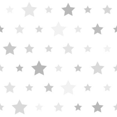 Naklejka Abstrakcyjna bez szwu geometryczny wzór z gwiazdami na białym backgr