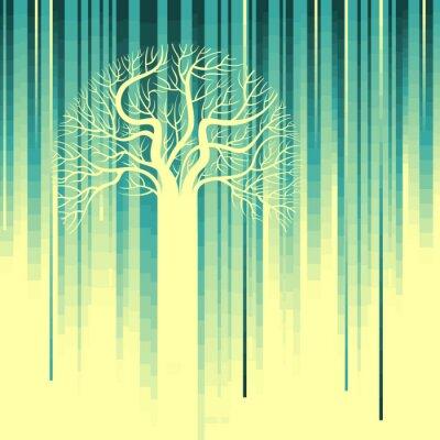 Naklejka abstrakcyjna drzewa, symbol charakter