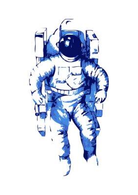 Naklejka Abstrakcyjna ilustracja astronauta