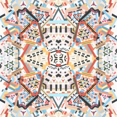 Naklejka Abstrakcyjna kolorowe tło bez szwu kalejdoskopie