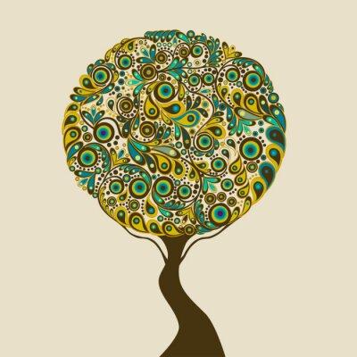 Naklejka abstrakcyjne drzewa