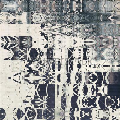 Naklejka abstrakcyjne geometryczne pasy poziome wzór, papier teksturowane monochromatyczne tło w kolorach białym, czarnym i niebieskim szarym; pionowy ornament bez zastosowania