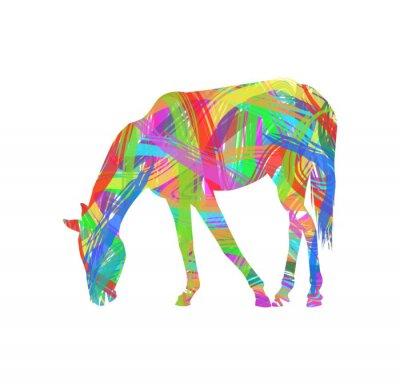 Naklejka abstrakcyjne koń