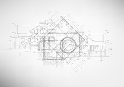 Naklejka Abstrakcyjne rysunki architektoniczne.