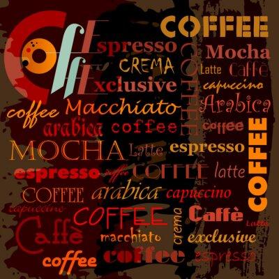 Naklejka abstrakcyjne tło do kawy, ze słowo / list, szablon projektu, g