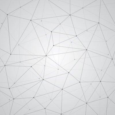 Naklejka Abstrakcyjne tło, geometria, linie i punkty