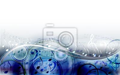 Naklejka Abstrakcyjne tło muzyczne projektowania muzyki z notatek muzycznych