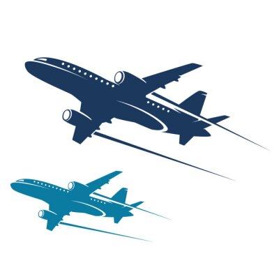 Naklejka abstrakcyjny samolotu