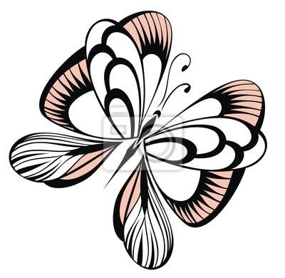 Abstrakcyjny Tatuaż Motyl Naklejki Redro