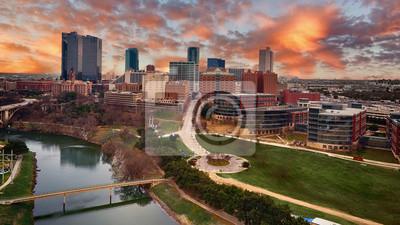 Naklejka Aerial Downtown Fort Worth, Texas