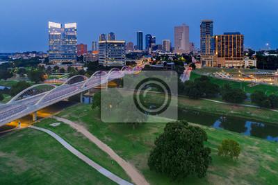Naklejka Aerial View Fort Worth, TX