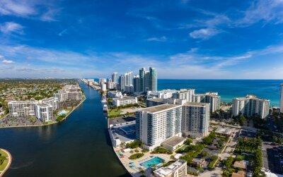 Naklejka Aerial view panorama of Fort Lauderdale