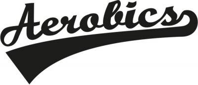 Naklejka Aerobik słowo retro