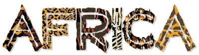 Naklejka Africa patchwork skóry i tkaniny z tekstur