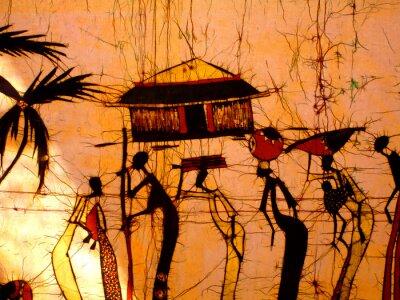 Naklejka african Art