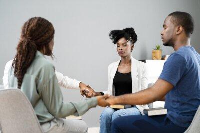 Naklejka African Team Motivational Spirit Team Meeting