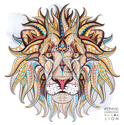 Naklejka Afrykański / indian design / totem / tatuaż. Może być stosowany do projektowania t-shirt, torby, pocztówka, plakat i tak dalej.