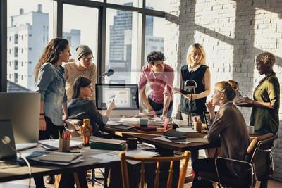 Naklejka Afrykańskie pochodzenie Brainstorming Working Workplace Concept