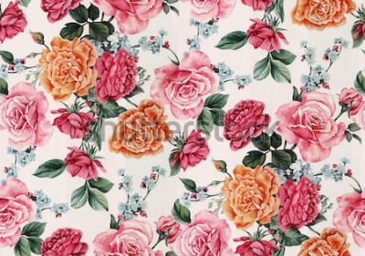 Naklejka akwarela kwiatowy wzór